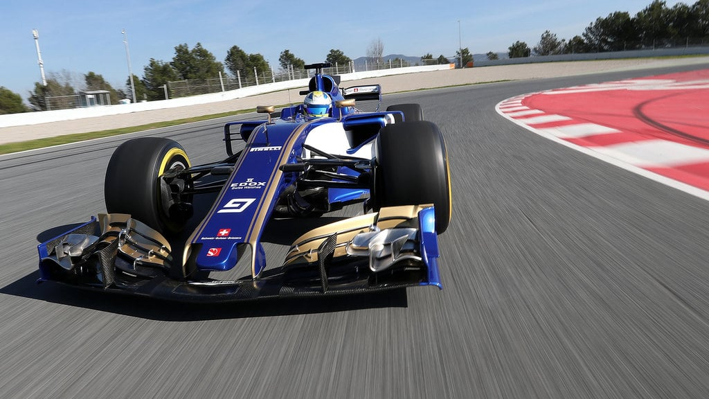 The Sauber C36 makes its track debut