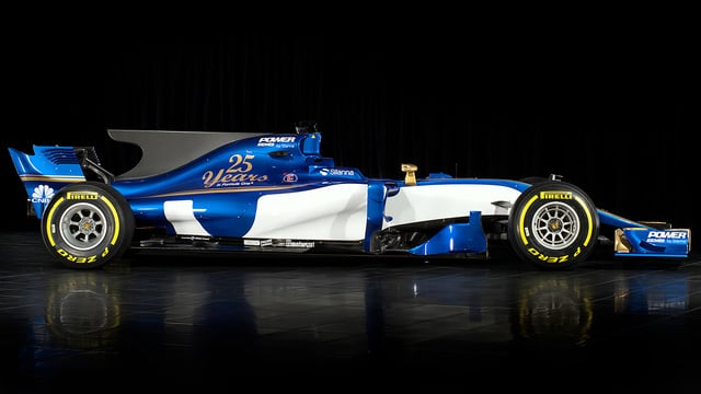 Sauber C36 side view