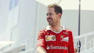 Vettel is all smiles for Ferrari/UPS campaign
