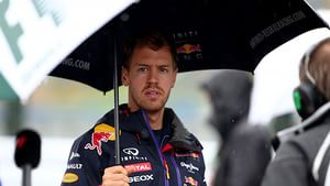 Vettel finds some respite from the rain in Japan