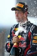 The German driver celebrates his second consecutive victory