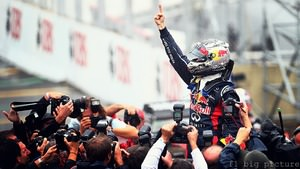 Sebastian Vettel makes it three championships in a row