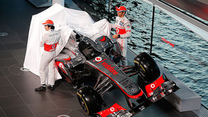 Pérez and Button pull the covers off the MP4-28