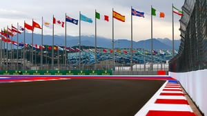 An empty Sochi racetrack