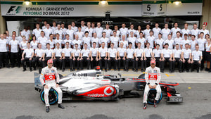Team McLaren line up before the last race of the season