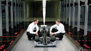 Michael Schumacher visits the Mercedes factory