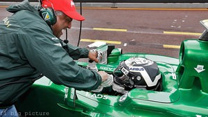Caterham celebrate a strong qualifying in Monaco