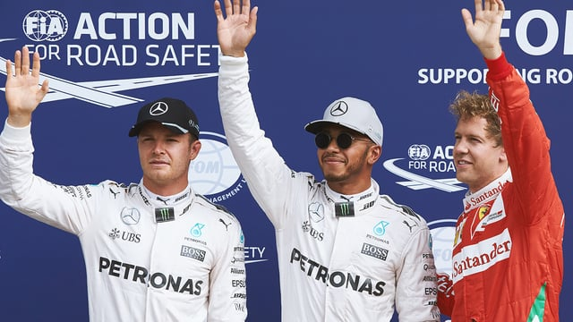 Hamilton takes pole as Ferrari settle for second row in front of home crowd