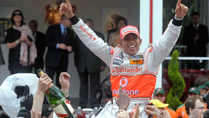 Lewis Hamilton wins the Monaco Grand Prix in 2008
