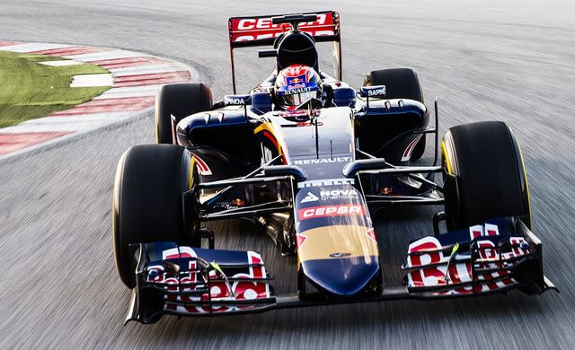 Verstappen in the Scuderia Toro Rosso STR10, lapping Misano