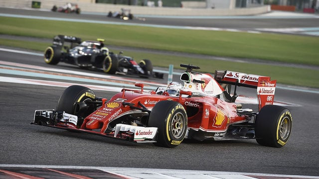 Vettel was never going to open up enough of a margin to retain the lead