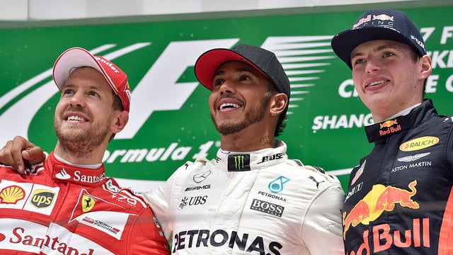 Lewis Hamilton wins the Chinese race to equal Vettel points