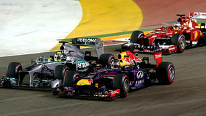 Race start in Singapore