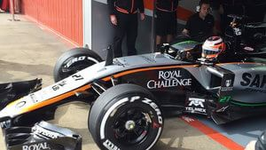 The VJM08 heads out for its first instal lap!