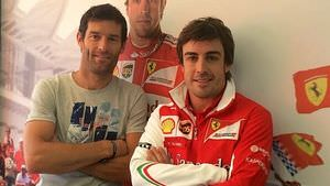 Webber and Alonso in Austria