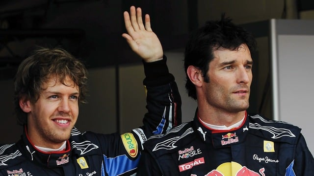 Webber and Vettel at Silverstone 2010