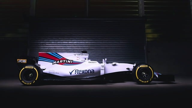 Williams launch photo - side view