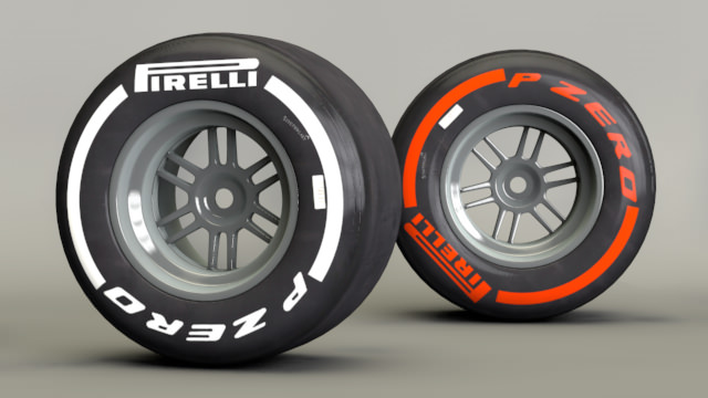 Medium and supersoft tyres