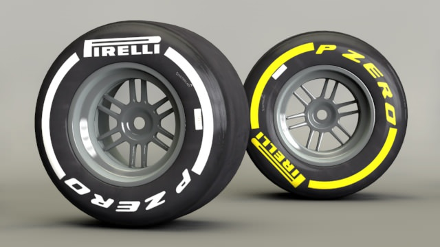 White and yellow sidewalls